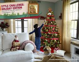 single wide mobile home interior purple decorated christmas tree