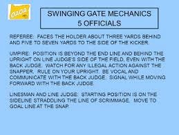 ocep playoff certification training swinging gate coverage ppt