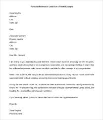 downloadable personal letter template for referencing a friend