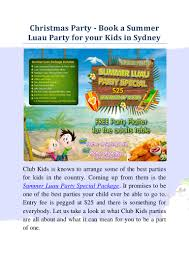 hosting the splendid summer luau party for your kids in christmas