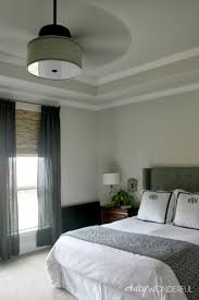 Master Bedroom Decor Diy Modern Bedroom Decor With Diy Drum Shade Ceiling Fan Full Size Gray