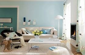 interior decorating with sky blue color for spacious look and airy