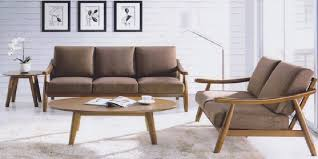 Sofa Wood Frame Wood Frame Sofa With Cushions Sofamoe Info