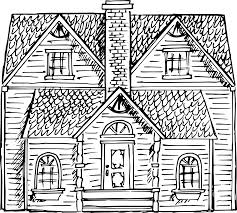 clipart victorian house sketch