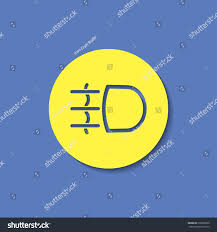 Dashboard Light Meanings Fog Light Symbol Vector Hmi Dashboard Stock Vector 618068330
