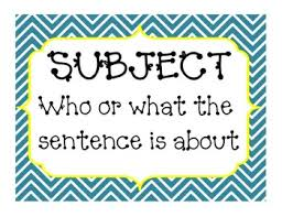 subject and predicate lessons tes teach