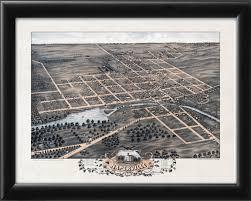 Naperville Il Map Naperville Il 1869 Vintage City Maps Restored City Maps