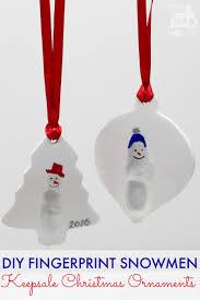 diy fingerprint snowmen christmas ornaments mum in the madhouse