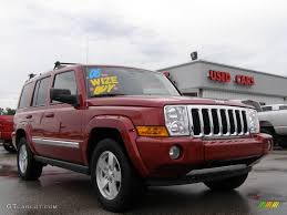 red jeep commander 2006 inferno red pearl jeep commander limited 16450643 gtcarlot