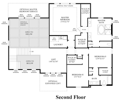 2nd Floor Plan Design The Highlands At Parker The Orion Home Design