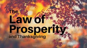 the of prosperity and why we celebrate thanksgiving