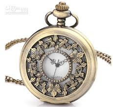 ladies pocket watch necklace images Unisex quartz pocket watch bronze antique men men 39 s ladies women 39 s jpg