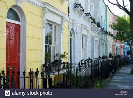 Painted Houses Pastel Painted Houses Kelly Street Kentish Town London England