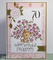 ruby dooby doo crafts 70th birthday card for maureen