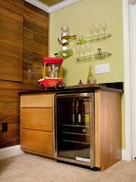 natural polished kitchen cabinet with licquor cupboard having