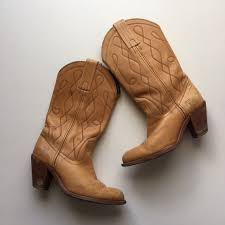 light colored cowgirl boots frye shoes vintage light brown western cowboy boots poshmark