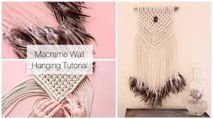 Macrame Home Decor by How To Make A Macrame Wall Hanging Dreamcatcher With Feathers