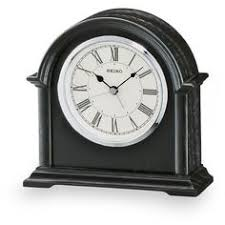 Battery Operated Desk Clock Seiko Rotating Pendulum Quartz Mantel Clock Qqw111b Cal 28503e