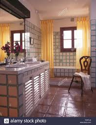 Country Bathroom Shower Curtains Yellow Shower Curtains On Bath In Tiled Country Bathroom