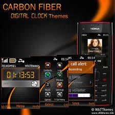 themes nokia c2 mobile carbon fiber digital clock themes x2 00 240x320 s406th asha 206