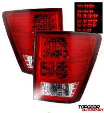 jeep grand cherokee led tail lights jeep grand cherokee 2007 2009 red and clear led tail lights