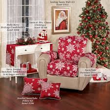 Wall Chair Protector Snowflake Red Quilted Furniture Protectors