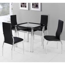 Black Metal Dining Room Chairs Dining Room Wonderful Round High Gloss Dining Table Sets With