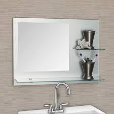interior fabulous bathroom decoration with large frameless