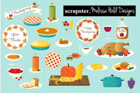 thanksgiving dinner pictures clip art thanksgiving food clipart illustrations creative market
