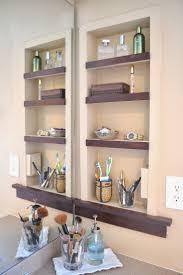 wall shelf for bathroom wall decoration ideas