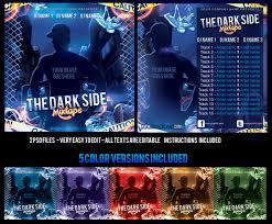 the dark side mixtape cd cover template by klarensm on deviantart
