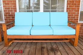Ana White Modern Outdoor Sofa DIY Projects - Modern outdoor sofa
