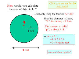 Square Feet Calc 2 Feet How Would You Calculate The Area Of This Circle