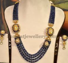sapphire chain necklace images Sapphires kundan long chain sapphire chains and metals jpg