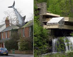 great white shark home england and waterfall home pennsylvania