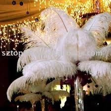 Ostrich Feathers For Centerpieces by Snow White Ostrich Feather Wing Plume Drab For Wedding Centerpiece