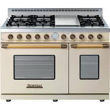 tecnogas superiore 48 inch deco natural gas range with 6 burners