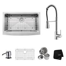 kraus farmhouse sink 33 kraus all in one farmhouse apron front stainless steel 33 in single