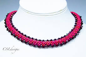 free necklace beading images Beaded kumihimo necklace with superduos jpg