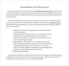 music lesson plan template u2013 8 free sample example format