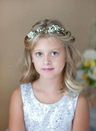 communion headpieces communion hair accessories white flower crowns for