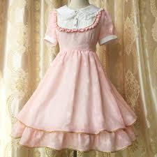kawaii girls stars golden trim summer dress chiffon lace fairy