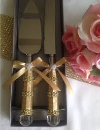 wedding cake cutting set satin and rhinestone wedding cake serving set by love4sparkles on