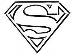 superhero coloring pages superman logo coloringstar