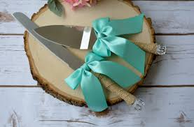 Wedding Cake Cutter Teal Wedding Cake Server Rustic Cake Cutter Gifts For The Bride