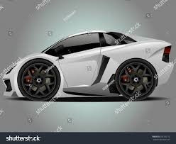 Vector Modern Cartoon Car Sports Car Stock Vector 262165112
