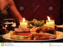 ham burger romantic dinner stock photo image 40346773