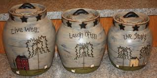 country kitchen canisters primitive kitchen canisters logischo