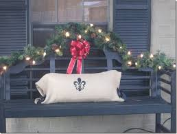 Outside Christmas Decorations For Front Porch by 16 Best Christmas Bench Images On Pinterest Christmas Ideas