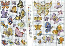 nice and small cross stitch patterns of butterflies free cross